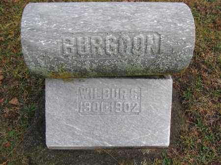 BURGOON, WILBUR - Union County, Ohio   WILBUR BURGOON - Ohio Gravestone Photos