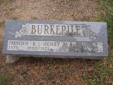BURKEPILE, MINNIE B. - Union County, Ohio   MINNIE B. BURKEPILE - Ohio Gravestone Photos