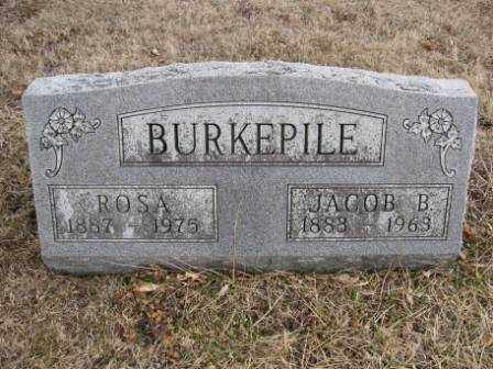 BURKEPILE, JACOB B. - Union County, Ohio | JACOB B. BURKEPILE - Ohio Gravestone Photos