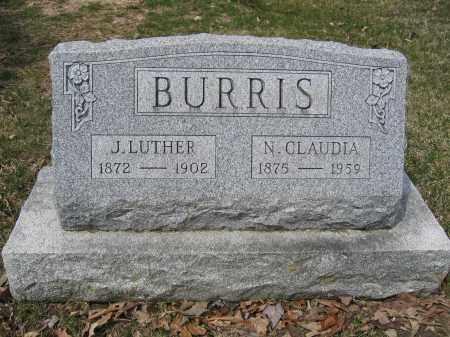 BURRIS, N. CLAUDIA - Union County, Ohio | N. CLAUDIA BURRIS - Ohio Gravestone Photos