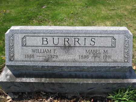 BURRIS, WILLIAM F. - Union County, Ohio | WILLIAM F. BURRIS - Ohio Gravestone Photos