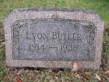 BUTLER, EVON - Union County, Ohio | EVON BUTLER - Ohio Gravestone Photos