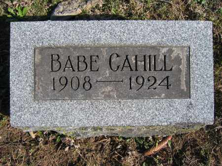 CAHILL, BABE - Union County, Ohio | BABE CAHILL - Ohio Gravestone Photos