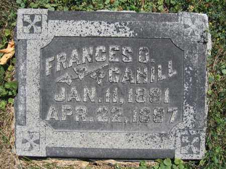 CAHILL, FRANCES O. - Union County, Ohio | FRANCES O. CAHILL - Ohio Gravestone Photos