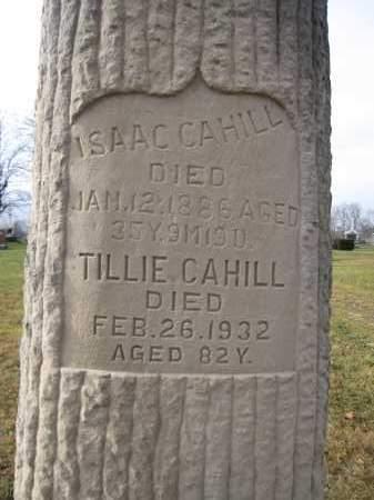 CAHILL, TILLIE - Union County, Ohio | TILLIE CAHILL - Ohio Gravestone Photos