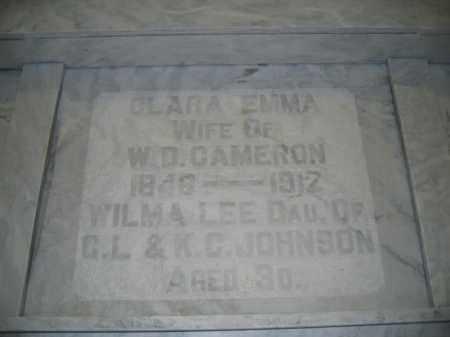 CAMERON, CLARA EMMA - Union County, Ohio | CLARA EMMA CAMERON - Ohio Gravestone Photos