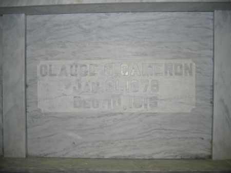 CAMERON, CLAUDE G. - Union County, Ohio | CLAUDE G. CAMERON - Ohio Gravestone Photos