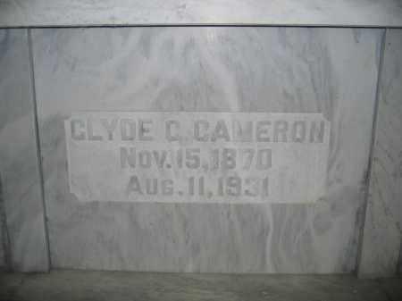 CAMERON, CLYDE C. - Union County, Ohio | CLYDE C. CAMERON - Ohio Gravestone Photos