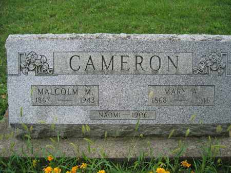 CAMERON, MARY A. - Union County, Ohio | MARY A. CAMERON - Ohio Gravestone Photos