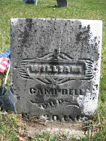 CAMPBELL, WILLIAM - Union County, Ohio | WILLIAM CAMPBELL - Ohio Gravestone Photos