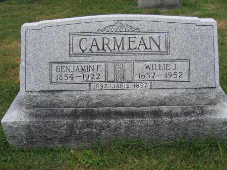 CARMEAN, JANIE - Union County, Ohio | JANIE CARMEAN - Ohio Gravestone Photos