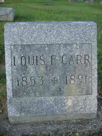 CARR, LOUIS E. - Union County, Ohio   LOUIS E. CARR - Ohio Gravestone Photos