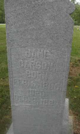 CARSON, JANE - Union County, Ohio | JANE CARSON - Ohio Gravestone Photos