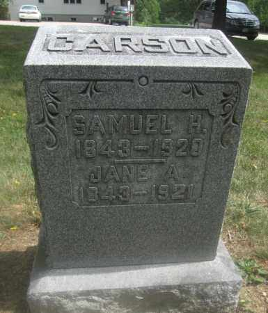 CARSON, JANE A. - Union County, Ohio | JANE A. CARSON - Ohio Gravestone Photos