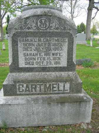 CARTMELL, SARAH E. - Union County, Ohio | SARAH E. CARTMELL - Ohio Gravestone Photos