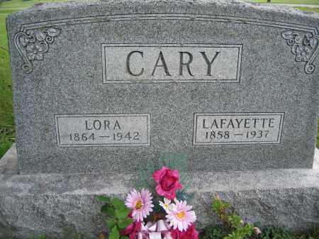 CARY, LORA - Union County, Ohio | LORA CARY - Ohio Gravestone Photos
