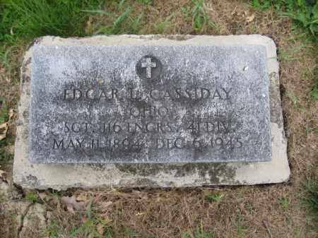CASSIDY, EDGAR L. - Union County, Ohio | EDGAR L. CASSIDY - Ohio Gravestone Photos