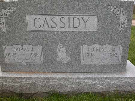 CASSIDY, THOMAS J. - Union County, Ohio   THOMAS J. CASSIDY - Ohio Gravestone Photos