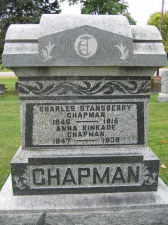 CHAPMAN, ANNA KINKADE - Union County, Ohio | ANNA KINKADE CHAPMAN - Ohio Gravestone Photos