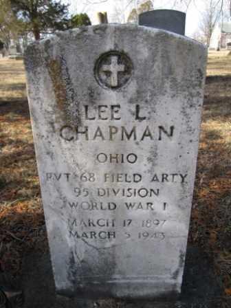 CHAPMAN, LEE L. - Union County, Ohio   LEE L. CHAPMAN - Ohio Gravestone Photos