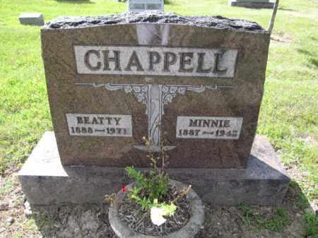 CHAPPELL, MINNIE - Union County, Ohio | MINNIE CHAPPELL - Ohio Gravestone Photos