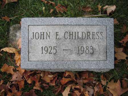 CHILDRESS, JOHN E. - Union County, Ohio   JOHN E. CHILDRESS - Ohio Gravestone Photos