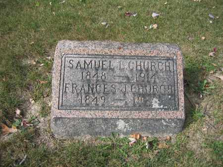 CHURCH, FRANCES J. - Union County, Ohio | FRANCES J. CHURCH - Ohio Gravestone Photos