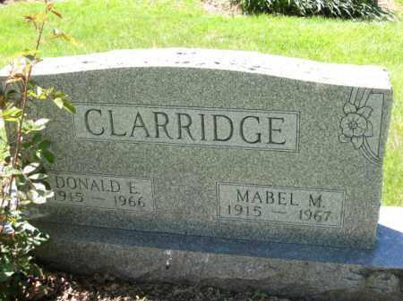 CLARRIDGE, DONALD E. - Union County, Ohio | DONALD E. CLARRIDGE - Ohio Gravestone Photos