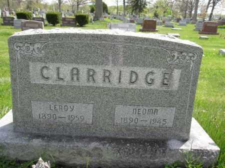 CLARRIDGE, LEROY - Union County, Ohio   LEROY CLARRIDGE - Ohio Gravestone Photos