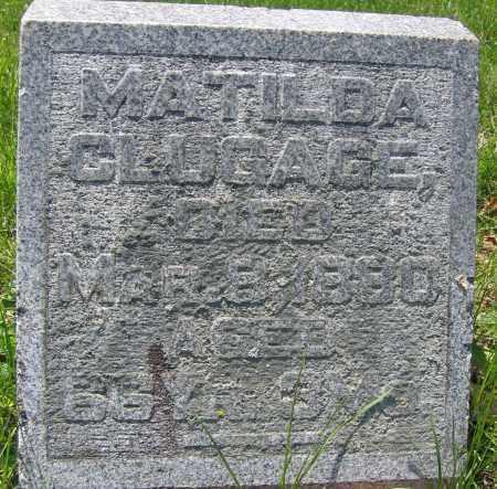 CLUGAGE, MATILDA - Union County, Ohio   MATILDA CLUGAGE - Ohio Gravestone Photos