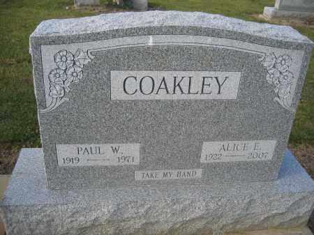 COAKLEY, AICE E. - Union County, Ohio | AICE E. COAKLEY - Ohio Gravestone Photos