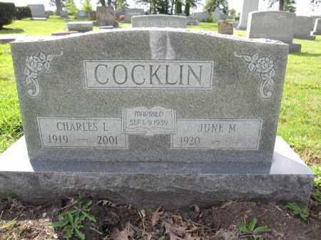 COCKLIN, JUNE M. - Union County, Ohio   JUNE M. COCKLIN - Ohio Gravestone Photos