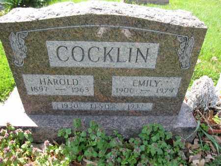 COCKLIN, EMILY - Union County, Ohio   EMILY COCKLIN - Ohio Gravestone Photos