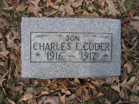 CODER, CHARLES E. - Union County, Ohio | CHARLES E. CODER - Ohio Gravestone Photos
