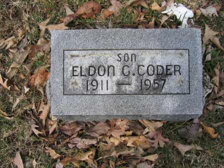 CODER, ELDON G. - Union County, Ohio | ELDON G. CODER - Ohio Gravestone Photos