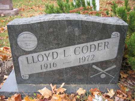 CODER, LLOYD L. - Union County, Ohio   LLOYD L. CODER - Ohio Gravestone Photos