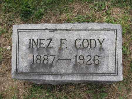 CODY, INEZ F. ROBINSON - Union County, Ohio | INEZ F. ROBINSON CODY - Ohio Gravestone Photos