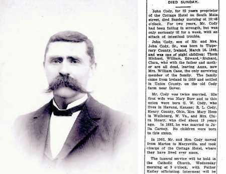 CODY, JOHN JR. - Union County, Ohio | JOHN JR. CODY - Ohio Gravestone Photos