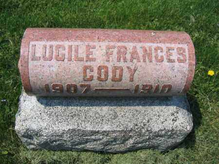 CODY, LUCILE FRANCES - Union County, Ohio   LUCILE FRANCES CODY - Ohio Gravestone Photos