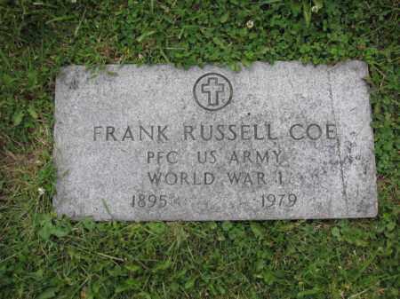 COE, FRANK RUSSELL - Union County, Ohio | FRANK RUSSELL COE - Ohio Gravestone Photos
