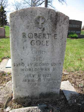 COLE, ROBERT E. - Union County, Ohio | ROBERT E. COLE - Ohio Gravestone Photos