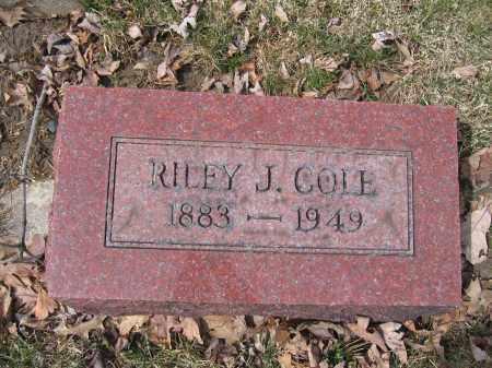COLE, RILEY J. - Union County, Ohio | RILEY J. COLE - Ohio Gravestone Photos