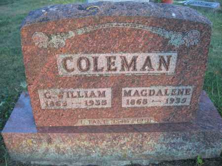 COLEMAN, G. WILLIAM - Union County, Ohio | G. WILLIAM COLEMAN - Ohio Gravestone Photos