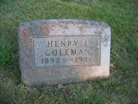 COLEMAN, HENRY J. - Union County, Ohio   HENRY J. COLEMAN - Ohio Gravestone Photos