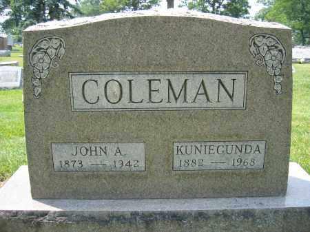 COLEMAN, JOHN A. - Union County, Ohio | JOHN A. COLEMAN - Ohio Gravestone Photos