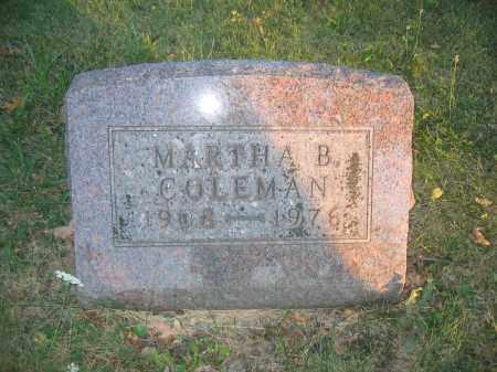 COLEMAN, MARTHA B. - Union County, Ohio | MARTHA B. COLEMAN - Ohio Gravestone Photos