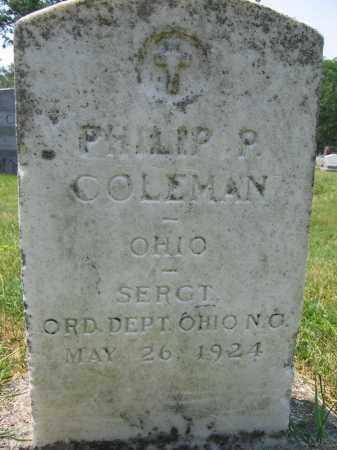 COLEMAN, PHILIP P - Union County, Ohio   PHILIP P COLEMAN - Ohio Gravestone Photos
