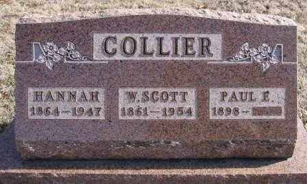 COLLIER, HANNAH - Union County, Ohio | HANNAH COLLIER - Ohio Gravestone Photos