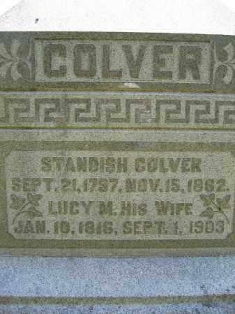 COLVER, STANDISH - Union County, Ohio | STANDISH COLVER - Ohio Gravestone Photos