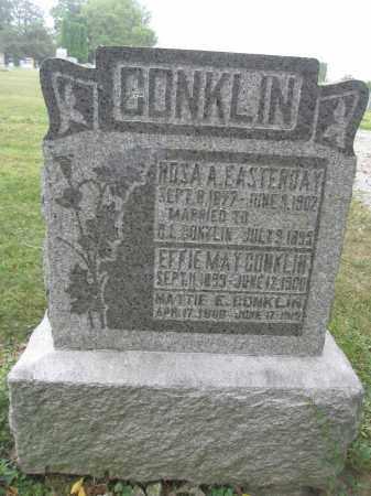 CONKLIN, ROSA A. EASTERDAY - Union County, Ohio | ROSA A. EASTERDAY CONKLIN - Ohio Gravestone Photos